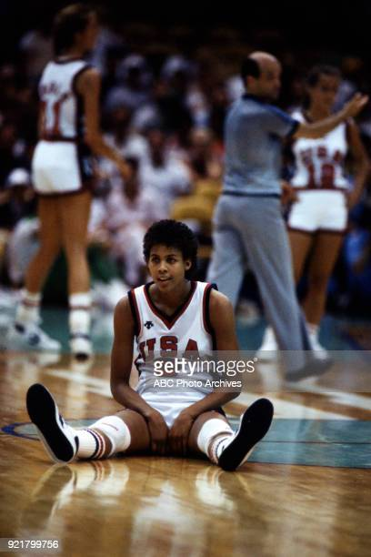 Cheryl Miller Women's basketball competition US vs South Korea The Forum at the 1984 Summer Olympics August 7 1984