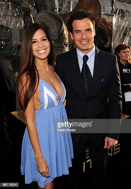 Cheryl Moana Marie and actor Antonio Sabato Jr arrives to the premiere of Warner Bros Clash Of The Titans held at Grauman's Chinese Theatre on March...