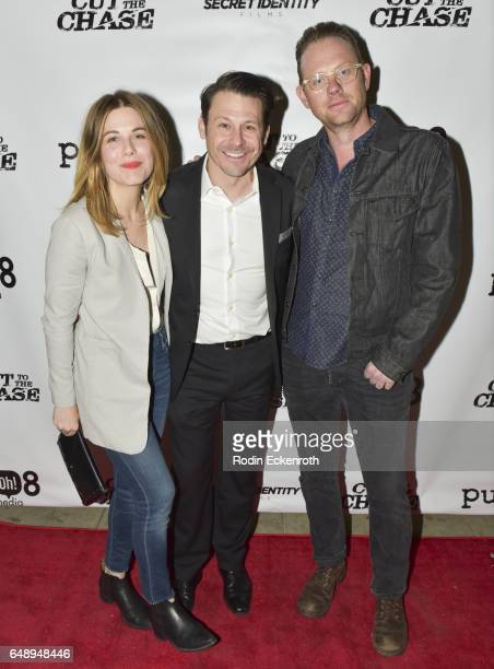 Cheryl Nichols Writer/Director Blayne Weaver and Arron Shiver attend 108 Media's Cut To The Chase premiere at Laemmle's Music Hall 3 on March 6 2017...