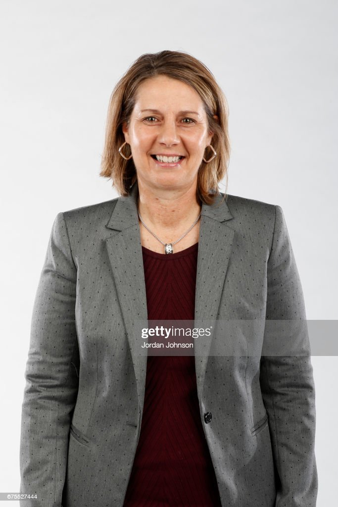 Cheryl Reeve of the Minnesota Lynx poses for portraits during 2017 Media Day on May 1, 2017 at the Minnesota Timberwolves and Lynx Courts at Mayo Clinic Square in Minneapolis, Minnesota.