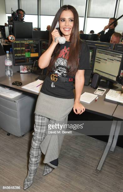 Cheryl representing Cheryl's Trust makes a trade at BGC Charity Day on September 11 2017 in London United Kingdom
