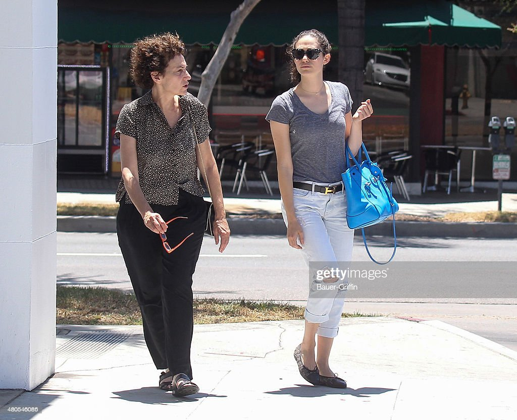 Cheryl Rossum and Emmy Rossum are seen on July 12, 2015 in Los Angeles, California.
