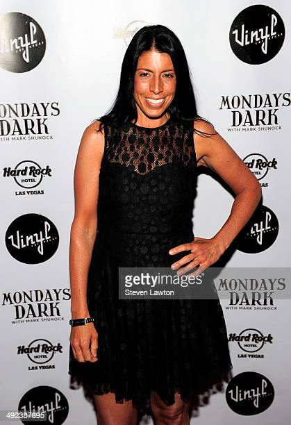 Cheryl Ruettiger arrives at 'Mondays Dark With Mark Shunock' benefiting the NF Network at Vinyl inside the Hard Rock Hotel Casino on May 19 2014 in...