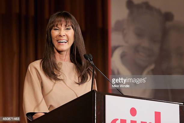 Cheryl Saban speaks onstage during the Girls Inc Los Angeles Celebration Luncheon at Beverly Hills Hotel on November 20 2013 in Beverly Hills...