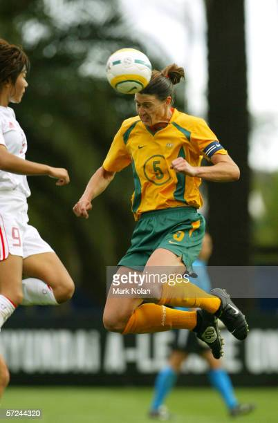 Cheryl Salisbury of Australia in action during the Womens Soccer International between the Australia and China at Central Coast Stadium on November...