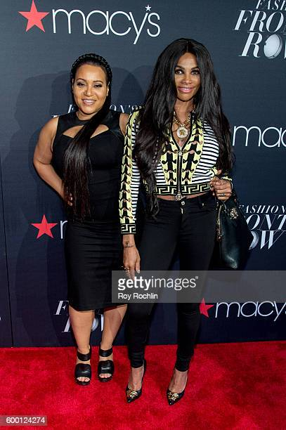 Cheryl 'Salt' James and Sandra 'Pepa' Denton of Salt-N-Pepa attend Macy's Presents Fashion's front row during 2016 New York Fashion Week at The...