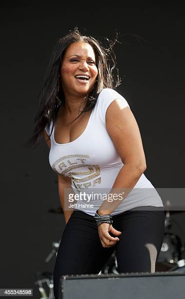 Cheryl 'Salt' James of SaltnPepa performs at FunkFest 2014 at Metrolina Expo Fairgrounds on September 12 2014 in Charlotte North Carolina