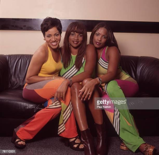 Cheryl 'Salt' James Sandra 'Pepa' Roper and Deidre 'Spinderella' Roper of SaltNPepa on 6/29/97 in Chicago Il