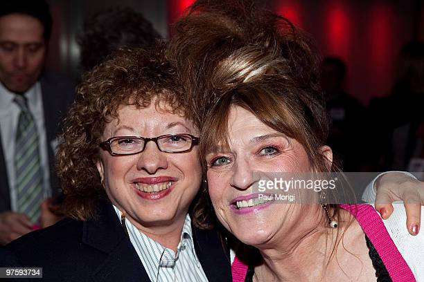 Cheryl Sensenbrenner and Joyce Bender attend An Evening with Betsey Johnson hosted by the AAPD at the Recording Industry Association Of America on...