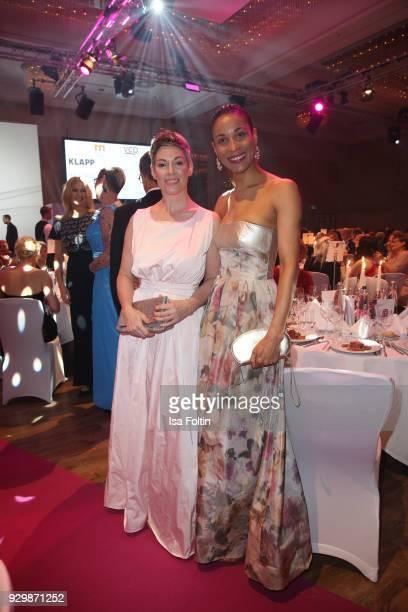 Cheryl Shepard and Annabelle Mandeng attend the Gloria Deutscher Kosmetikpreis at Hilton Hotel on March 9 2018 in Duesseldorf Germany