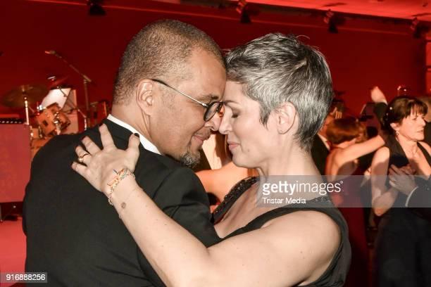 Cheryl Shepard and her husband Nikolaus Okonkwo during the 18th Brandenburg Ball on February 10 2018 in Potsdam Germany