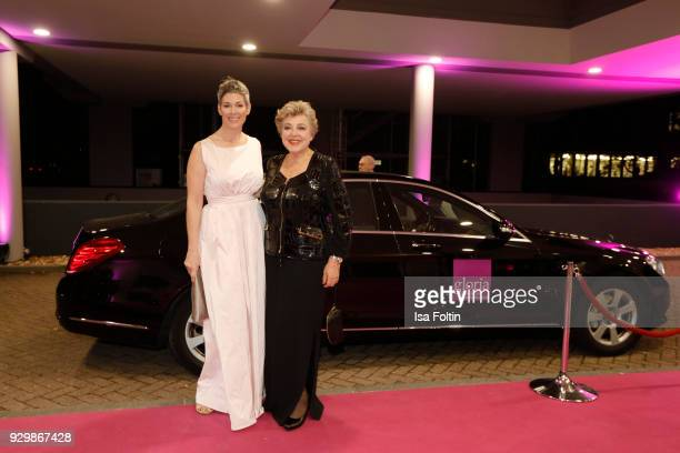 Cheryl Shepard and Marie Luise Marjan attend the Gloria Deutscher Kosmetikpreis at Hilton Hotel on March 9 2018 in Duesseldorf Germany