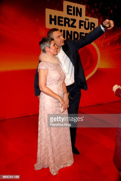 Cheryl Shepard and Vitali Klitschko during the Ein Herz Fuer Kinder Gala show at Studio Berlin Adlershof on December 9 2017 in Berlin Germany