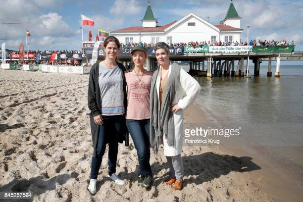 Cheryl Shepard Johanna Klante and Ursula Buschhorn attend the Till Demtroeders CharityEvent 'Usedom Cross Country' at Seebruecke Ahlbeck on September...