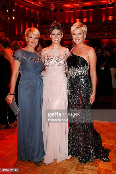 Cheryl Shepard Kamilla Senjo and a guest attend the Leipzig Opera Ball 2015 on October 31 2015 in Leipzig Germany
