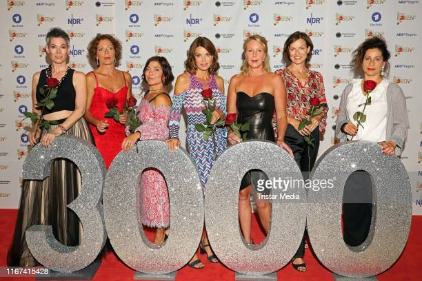 Cheryl Shepard Madeleine Niesche Claudia Schmutzler Gerit Kling Anne Moll Mona Klare and Annett Kruschke attend the TV series 'Rote Rosen' celebrates...