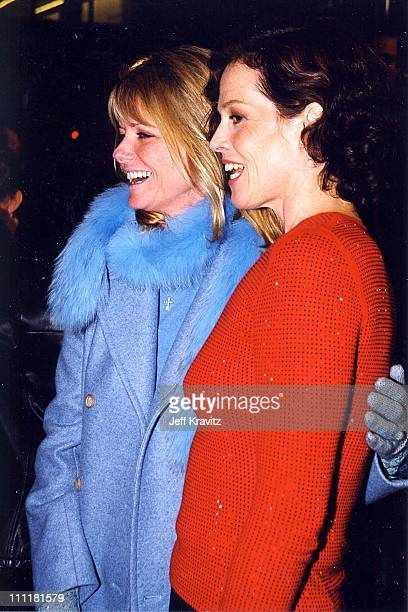 Cheryl Tiegs and Sigourney Weaver during Map of the World Premiere in Los Angeles California United States