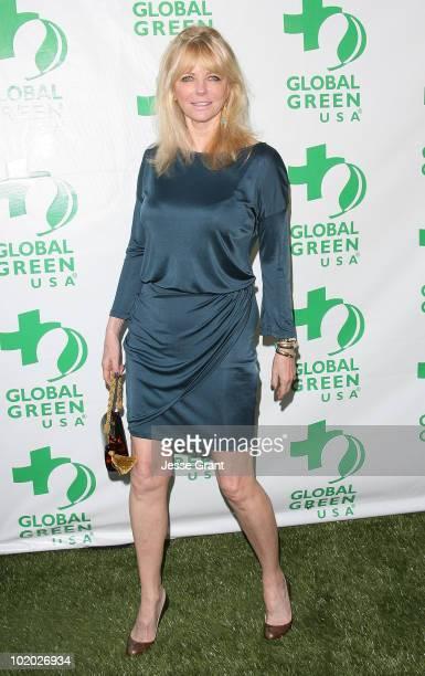 Cheryl Tiegs arrives at Global Green USA's 14th Annual Millennium Awards at the Fairmont Miramar Hotel on June 12 2010 in Santa Monica California