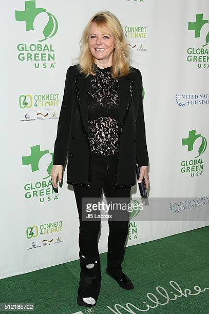 Cheryl Tiegs attends Global Green USA's 13th annual preOscar party at Mr C Beverly Hills on February 24 2016 in Los Angeles California