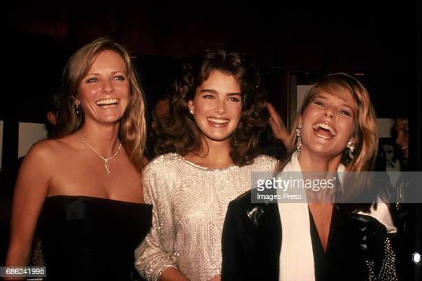 Cheryl Tiegs Brooke Shields and Christie Brinkley circa 1983 in New York City