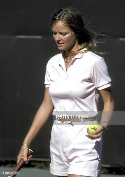 Cheryl Tiegs during 10th Annual Robert F Kennedy ProCelebrity Tennis Tournament at Kennedy Compound in Hyannisport Massachusetts United States