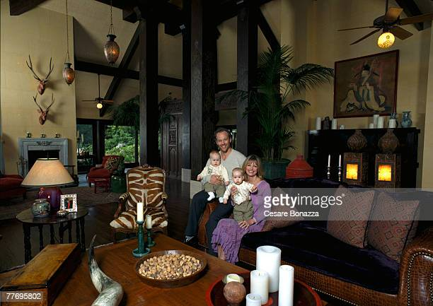 Cheryl Tiegs husband Rod Stryker with twins Jaden and Theo Private home in Beverly Hills Cheryl Tiegs Self Assignment May 4 2002 Beverly Hills...