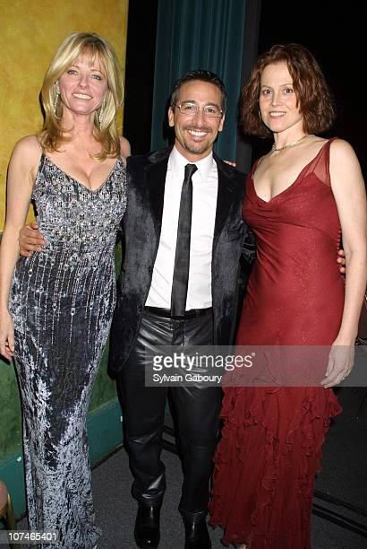 Cheryl Tiegs Vincent Longo Sigourney Weaver during Fashion Industry's Annual Michael Awards at Hammerstein in New York New York United States