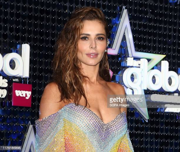 Cheryl Tweedy on the blue carpet at The Global Awards at the Eventim Apollo Hammersmith