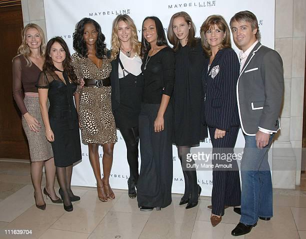 Cheryl Vitali, Senior V.P. Of Maybelline, Danna Garcia, Tomiko Fraser,Maybelline New York Spokeswoman, Erin Wasson, Da'nee Doty, Christy Turlington,...