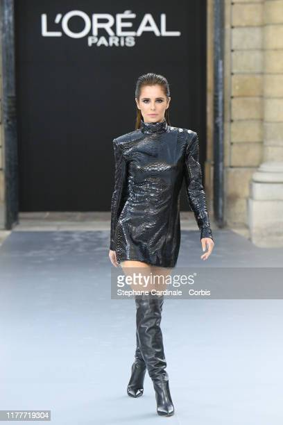 """Cheryl walks the runway during the """"Le Defile L'Oreal Paris"""" Show as part of Paris Fashion Week on September 28, 2019 in Paris, France."""
