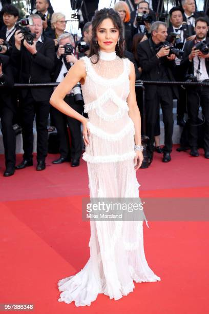 Cheryl waves as she attends the screening of Ash Is The Purest White during the 71st annual Cannes Film Festival at Palais des Festivals on May 11...