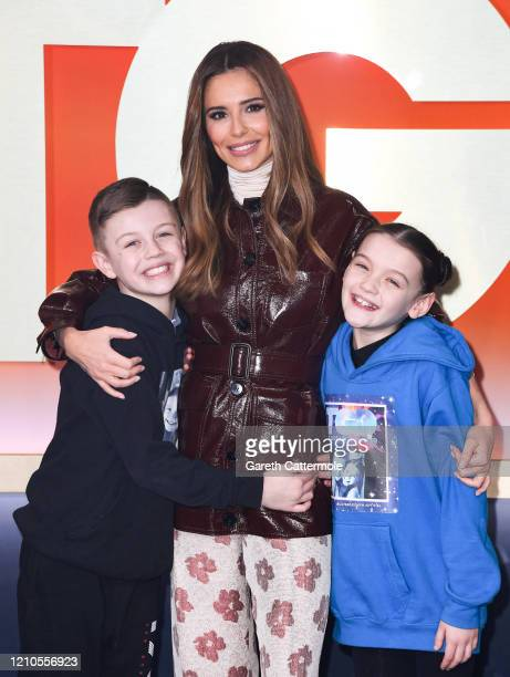 "Cheryl with finalists Joseph Chow and Lily Straughn aka Lily and Joseph, at ""The Greatest Dancer"" photocall at LH2 Studios on March 05, 2020 in..."