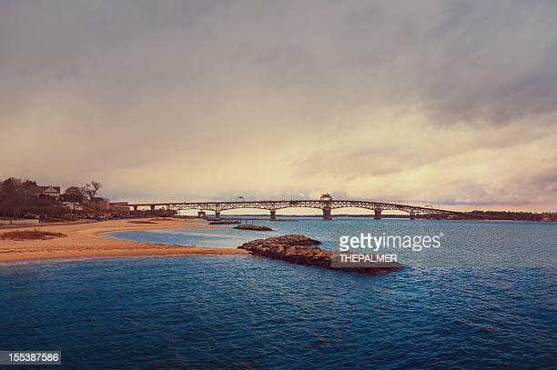 chesapeake bay and bridge - chesapeake bay bridge stock pictures, royalty-free photos & images