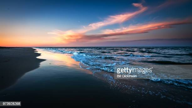 chesapeake bay at sunset, hampton, virginia, usa - chesapeake bay stock pictures, royalty-free photos & images