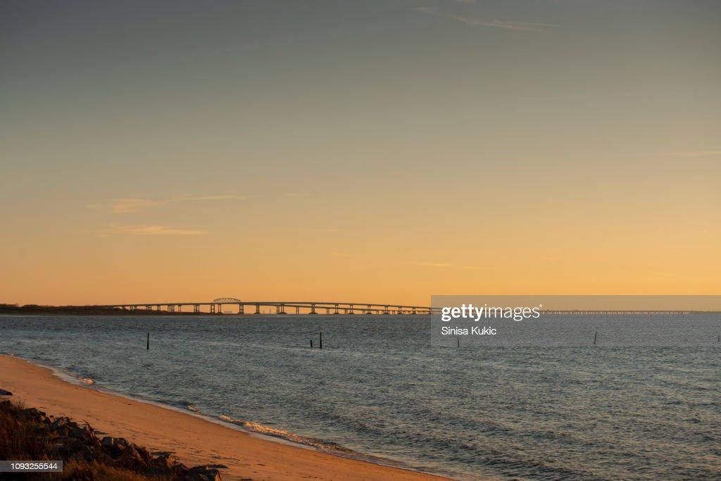 Chesapeake Bay Bridge : ストックフォト