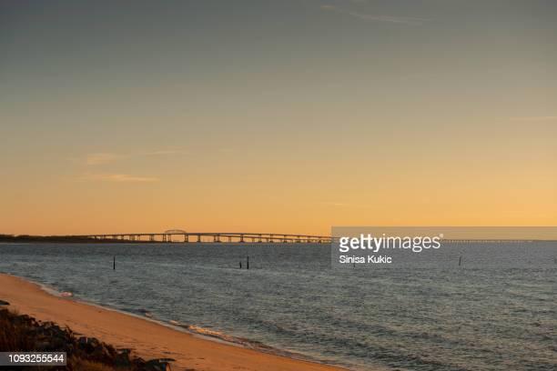 chesapeake bay bridge - norfolk virginia stock pictures, royalty-free photos & images