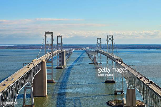 chesapeake bay bridge - bay bridge stock pictures, royalty-free photos & images