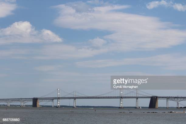 chesapeake bay bridge - chesapeake bay bridge stock pictures, royalty-free photos & images