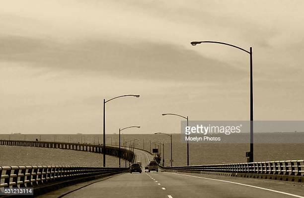 chesapeake bay bridge tunnel-va band w - chesapeake bay bridge tunnel stock photos and pictures