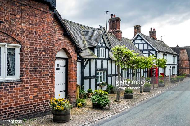 cheshire cottages - tudor stock pictures, royalty-free photos & images