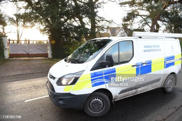 A Cheshire Police Crime Scene Investigation unit arrives at the home of Manchester United executive vicechairman Ed Woodward in the village of Lower...