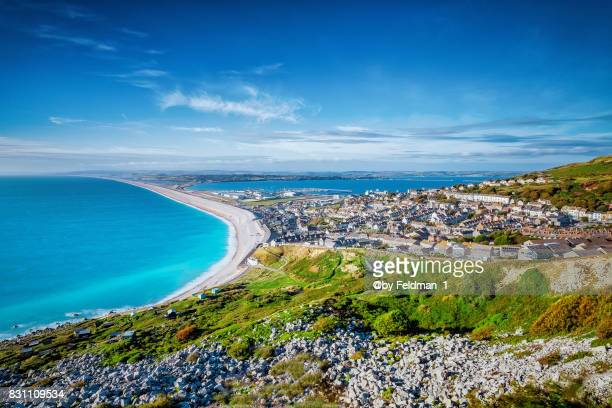 chesil beach, fortuneswell, dorset , uk - 英国 ドーセット ストックフォトと画像