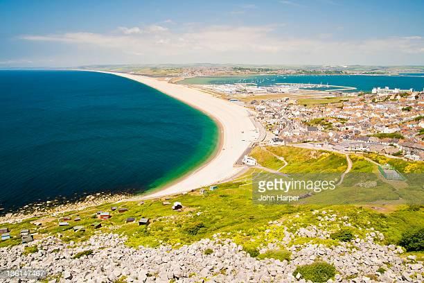 Chesil beach Portland, Dorset, UK