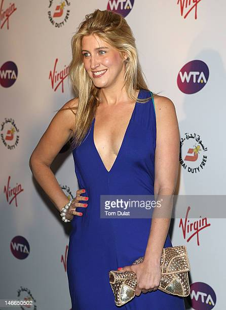 Cheska Hull of TV show 'Made In Chelsea' arrives at the WTA Tour PreWimbledon Party at The Roof Gardens Kensington on June 21 2012 in London England
