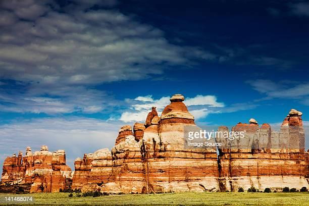 chesler park, canyonlands national park, utah, usa - canyonlands national park stock pictures, royalty-free photos & images