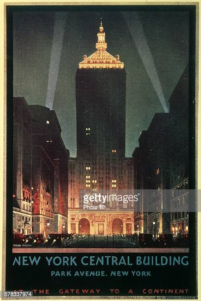 Chesley Bonestell Poster 'New York Central Building Park Avenue New York' 1930