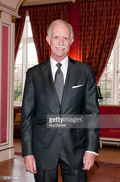 Chesley Sullenberger poses for a photo before he is awarded the Officier Award at the French Ambassador's Residence on December 17 2010 in Washington...