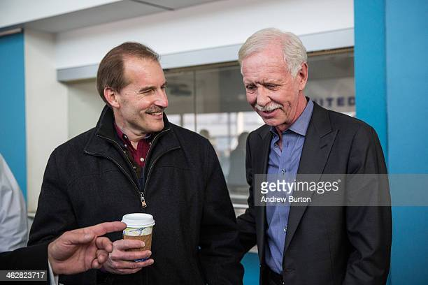 Chesley Sully Sullenberger a retired airline captain famous for landing a commercial jet on the Hudson River and his first officer from the flight...