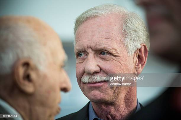 Chesley 'Sully' Sullenberger a retired airline captain famous for landing a commercial jet on the Hudson River celebrates the five year anniversary...