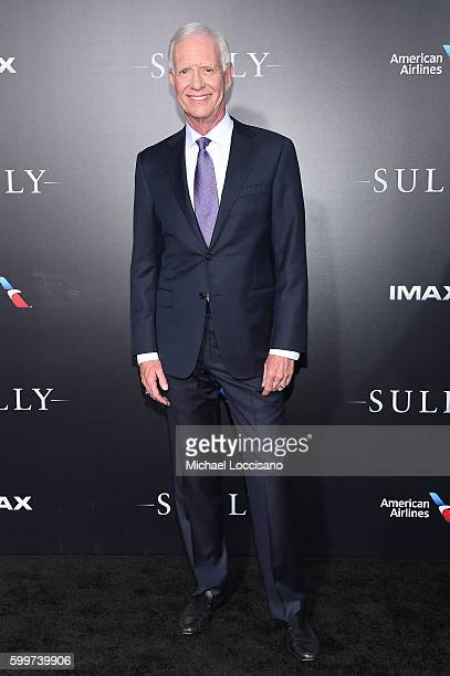 """Chesley """"Sully"""" Sullenberger attends the """"Sully"""" New York Premiere at Alice Tully Hall on September 6, 2016 in New York City."""